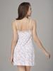 Đầm ngắn VERA nylon in hoa - 0320