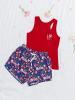 Combo áo thun ba lỗ VERA in họa tiết - quần short kate in