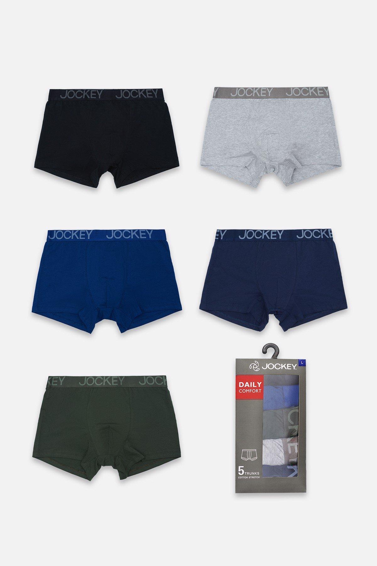 Hộp 05 quần Jockey dáng Trunk - 0411P