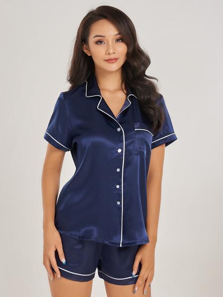 Bộ short pijama VERA satin tay ngắn - 0129