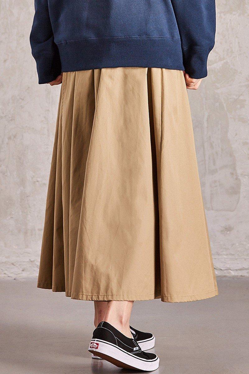 Chân váy dài lưng thun
