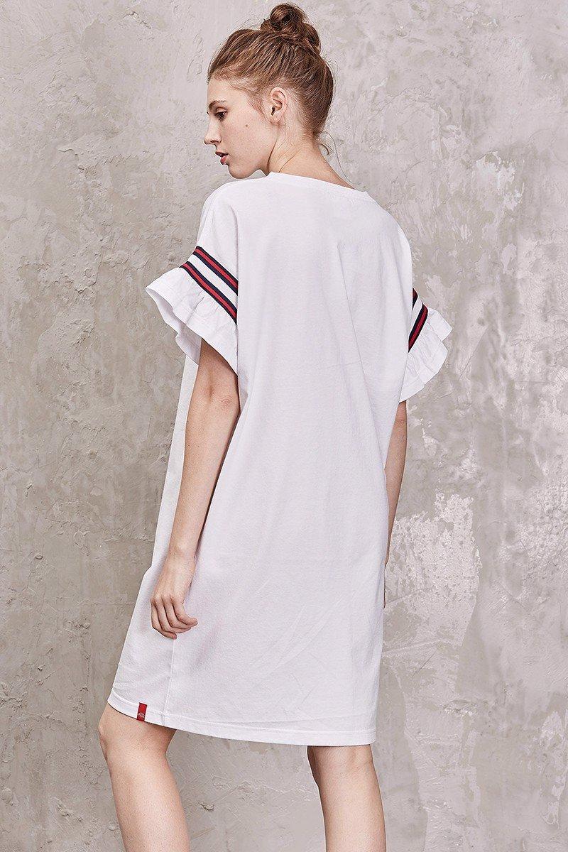 Đầm thun nữ tay loe