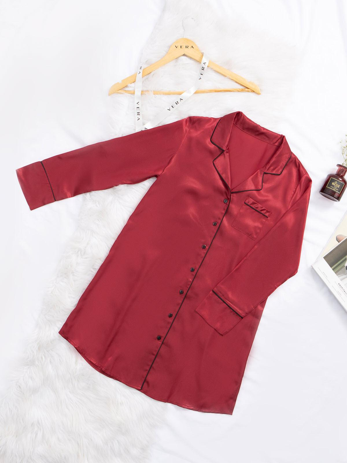 Đầm VERA tay dài satin - 0326