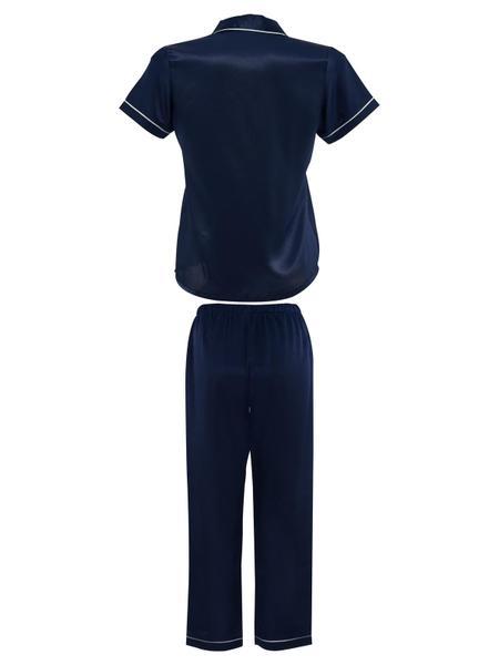 Bộ dài pijama VERA satin tay ngắn - 0130
