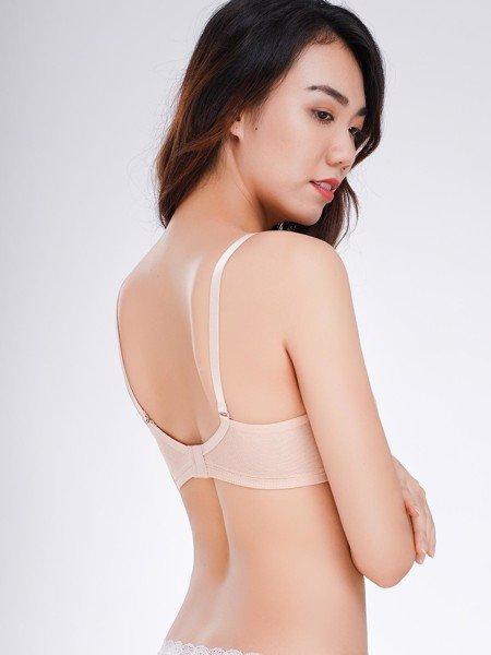 Áo ngực Misaki không gọng mút mỏng cup ren lưới - 0107