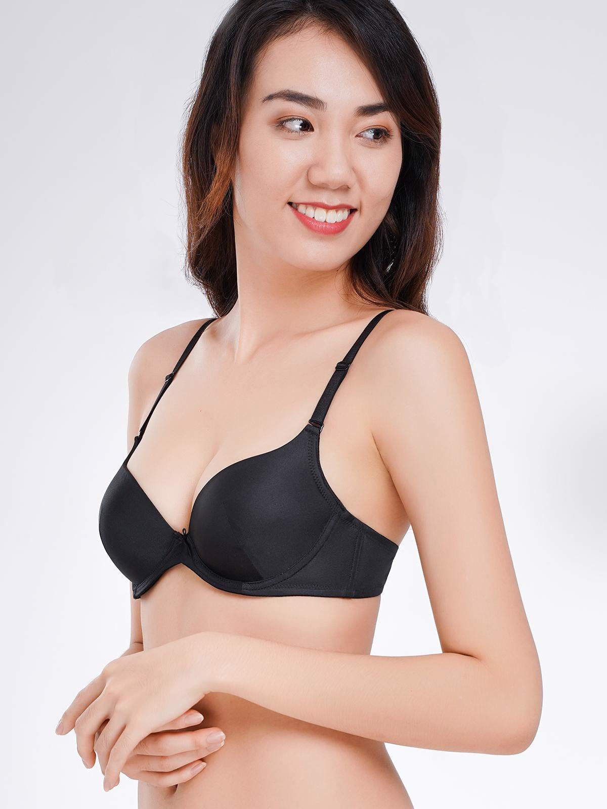 Áo ngực Misaki mút dày cúp trơn - 6344