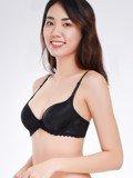 Áo ngực Misaki mút dày cúp trơn phối ren - 7325