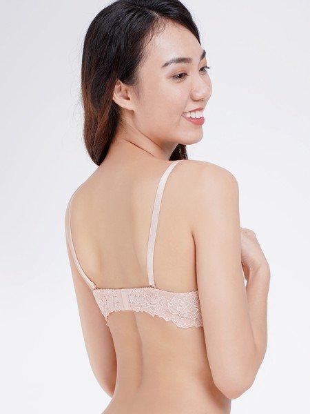 Áo ngực Misaki mút dày cúp ren phối dây lưng ren - 8310