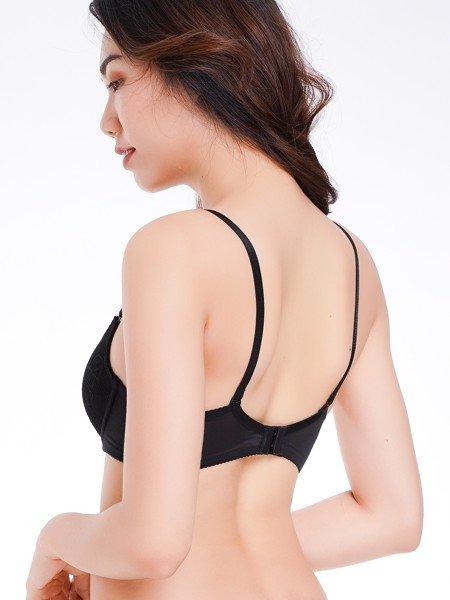 Áo ngực Misaki mút mỏng cúp ren phối dây lưng lưới - 9107