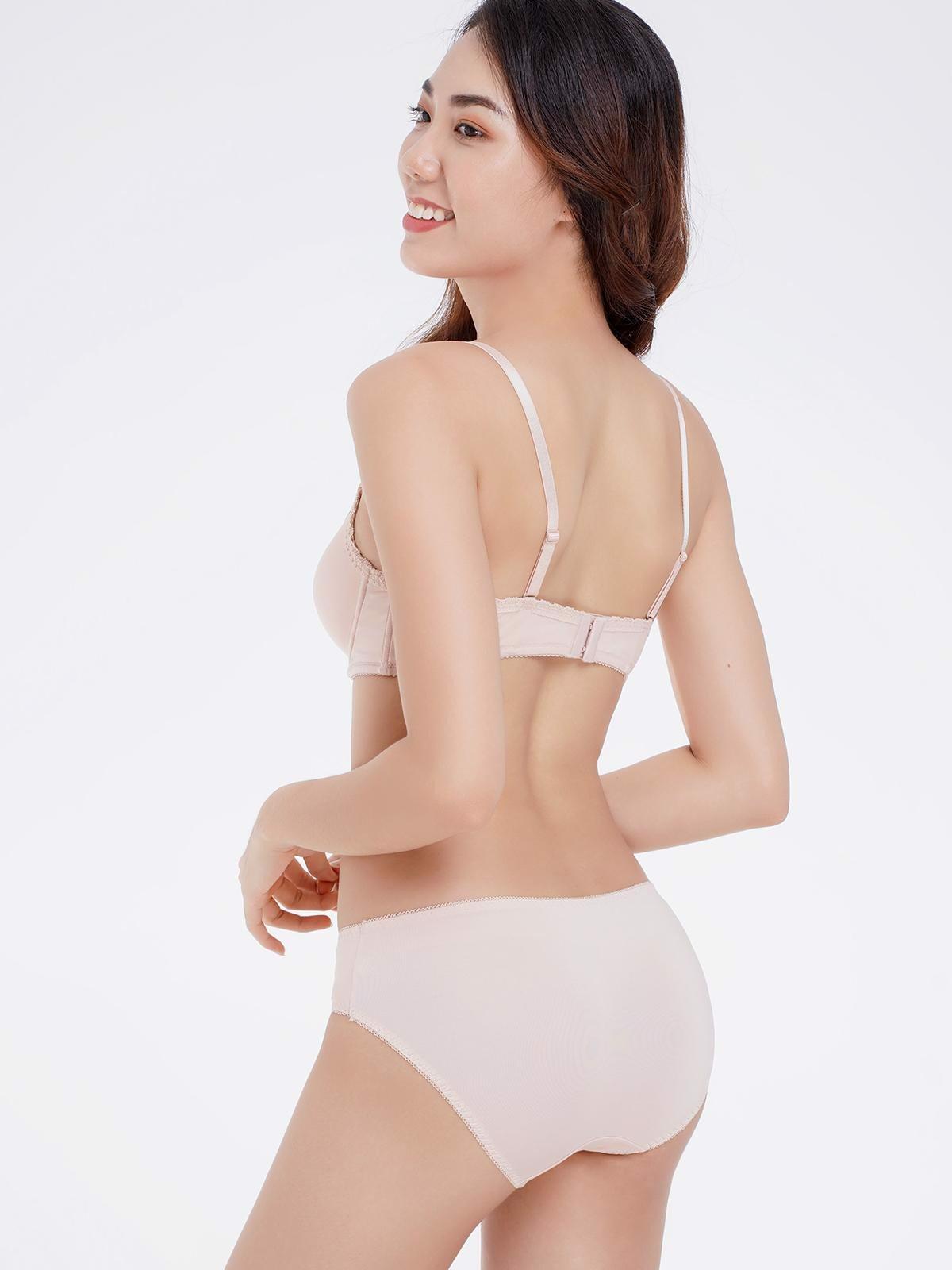Quần lót Misaki dáng bikini phối ren - 6372